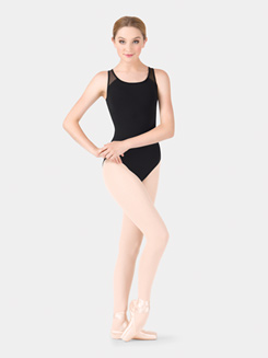 Adult Powermesh Tape Back Tank Leotard