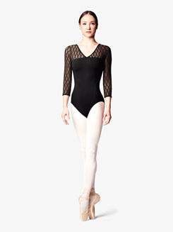 Womens Diamond Mesh X-Back Leotard