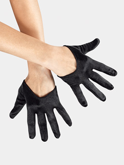 Adult Satin Mini Cropped Gloves