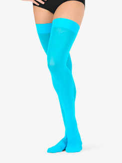 Womens Opaque Dance Thigh High Socks