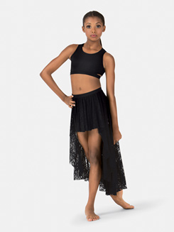 Child High-Low Lace Dance Skirt