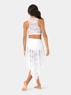 Adult Hi-Lo Lace Performance Skirt