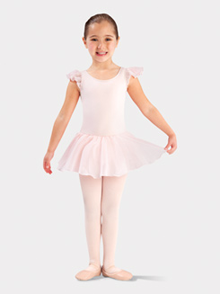 Girls Flutter Sleeve Ballet Dress