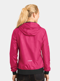Women Embossed Hooded Jacket