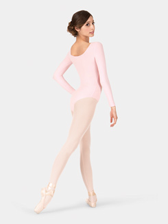 Adult Brushed Cotton Long Sleeve Leotard