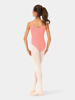 Girls Brushed Cotton Tank Dance Leotard