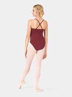 Girls Brushed Cotton X-Back Camisole Dance Leotard