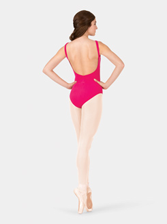 Adult Brushed Cotton V-Back Tank Pinch Front Leotard
