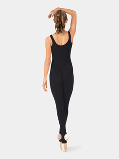 Adult Brushed Cotton Tank Pinch Front Unitard