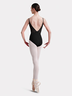 Adult Camisole Lattice Elastic Trim Back Leotard