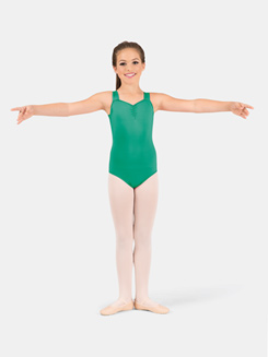 Girls Pinch Front X-Back Tank Leotard