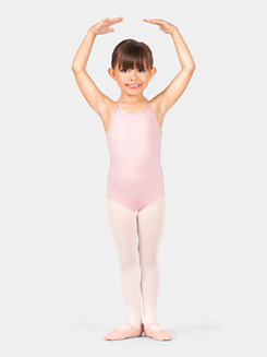 Girls Heart Mesh Camisole Leotard