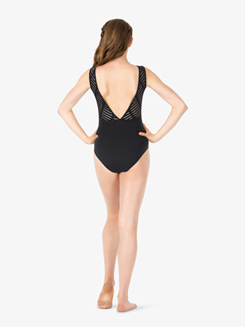 Womens Ladder Mesh Back Tank Leotard