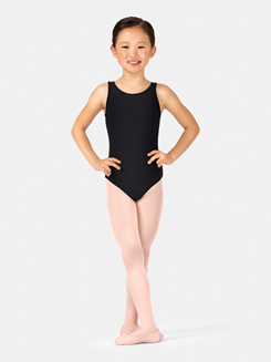 Girls Sequin Tulle Tank Leotard