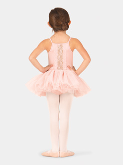 Girls Scalloped Lace Camisole Tutu Dress