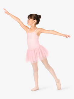 Girls Glitter Mesh Camisole Ballet Tutu Dress