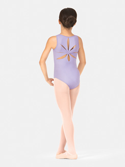 Child Cutout Back Tank Leotard