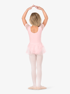 Girls Short Sleeve Glitter Dot Ballet Dress