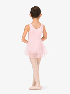 Girls Tank Glitter Dot Mesh Ballet Tank Dress