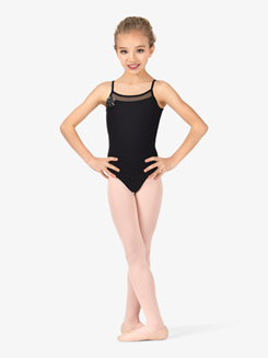 Girls Camisole Mesh Front Keyhole Back Leotard