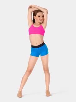 Girls Elastic Waist Dance Shorts