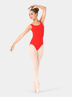 Adult Pleated Panel Back Tank Leotard