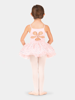 Child Sequin Pleated Mesh Tutu Skirt