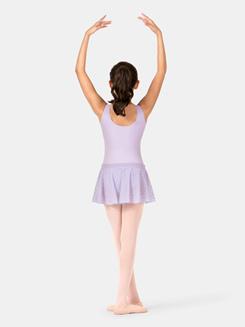 Child Pinch Waistband Bow Mesh Skirt