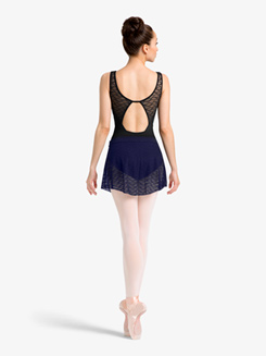 Womens Wavy Mesh Pull-On Ballet Skirt