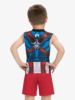 Boys/Mens Marvel Captain America Compression Shirt