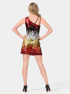 Adult Sequin One Shoulder Dress