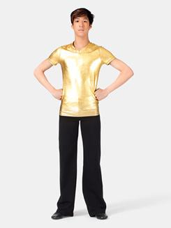 Mens Short Sleeve Metallic T-Shirt