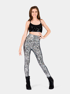 Adult High Waist Roxy Zebra Leggings