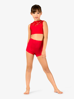 Child Boy-Cut High Waist Emballe Dance Short