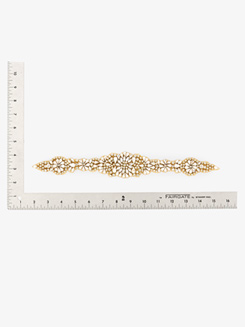 Long Sew On Gold Detail Applique