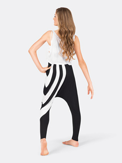Adult White Stripe Rayon Harem Pant