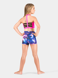 Girls High Waist Galaxy Dance Short