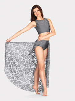 Adult Lace Skirt with Attached Brief