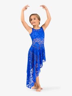 Girls Lace Long Tank Dress