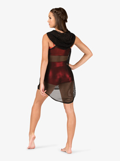 Womens Mesh High-Low Dance Tank Dress