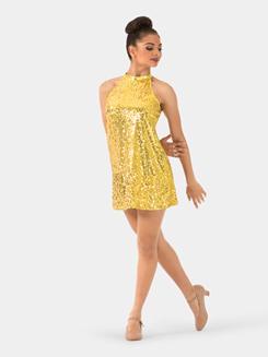 Adult Sequin Halter Dress