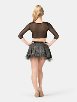 Adult Silver Swirl Pull-On Skirt