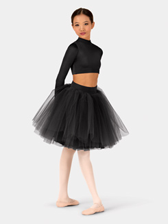 Girls Satin Tutu Skirt