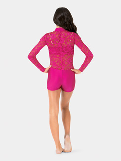 Adult Long Sleeve Lace Biketard