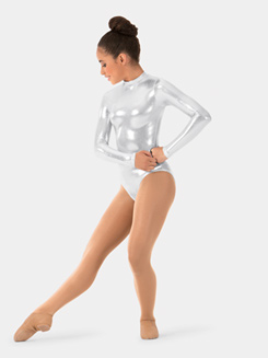 Girls Metallic Mystique Long Sleeve Leotard