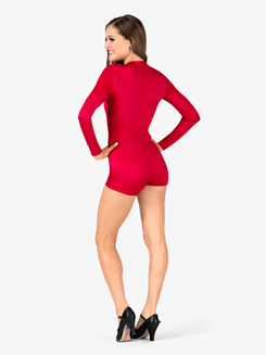 Womens Performance Two-Tone Long Sleeve Shorty Unitard