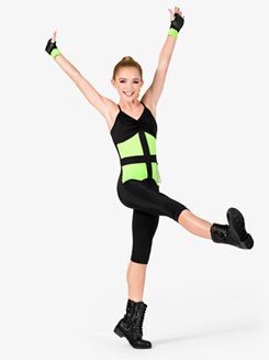 Girls Performance Two-Tone Camisole Unitard