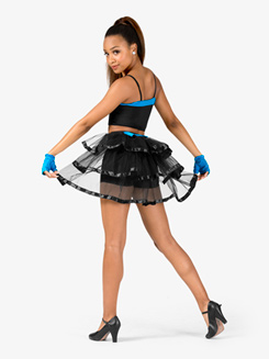 Womens Two-Tone 2-Piece Dance Costume