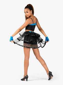 Womens Two-Tone 2-Piece Dance Costume
