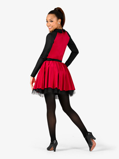 Womens Performance Collared Long Sleeve Tutu Dress